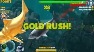 getlinkyoutube.com-MEGALODON - Hungry Shark Evolution Infinity Gold RUSH