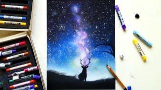 getlinkyoutube.com-Drawing a galaxy with soft pastels | Leontine van Vliet