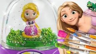 getlinkyoutube.com-Rapunzel Glitzi globes inspired / paint your own glitter dome - roziberry