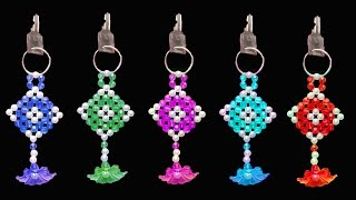 getlinkyoutube.com-How To Make  Crystal Beads Key Chain