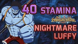getlinkyoutube.com-Walkthrough for Nightmare Luffy 40 Stamina Raid [One Piece Treasure Cruise]