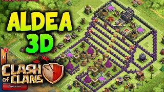 getlinkyoutube.com-DISEÑO ALDEA EN 3D - CLASH OF CLANS