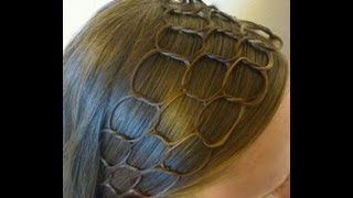 getlinkyoutube.com-Honeycomb Headband Hairstyle Tutorial