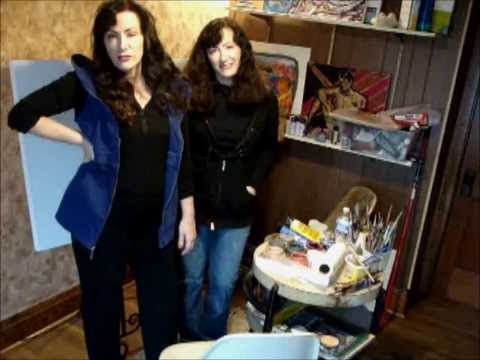 Painting with Twin Artists Georgette Drake and Georganne Bishop