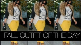 getlinkyoutube.com-PLUS SIZE OOTD | FALL AFTERNOONS FT FAUX FUR COLLAR