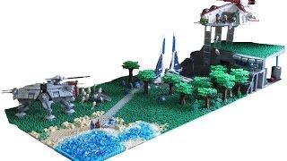 getlinkyoutube.com-HUGE Lego Star Wars Death Watch Base on Concordia