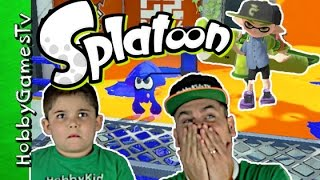 getlinkyoutube.com-Splatoon Game Play Online Multiplayer Webcam HobbyPig HobbyDad One On One by HobbyGamesTV