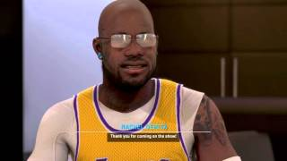 getlinkyoutube.com-NBA 2K16 unlocked mistery ??? Connections 2ktv interview about myplayer in mycareer w/ Rachel demita