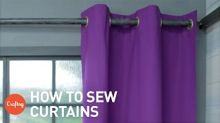 getlinkyoutube.com-How to sew curtains: Easy grommet style (with free pattern) | Craftsy Sewing Tutorials