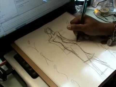 Fashion design...everything starts with a sketch: Part 2 the basic sketch