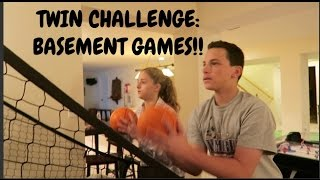 getlinkyoutube.com-TWIN CHALLENGE:  BASEMENT GAMES!!