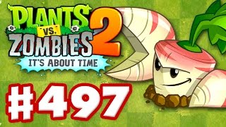 getlinkyoutube.com-Plants vs. Zombies 2: It's About Time - Gameplay Walkthrough Part 497 - Parsnip! (iOS)