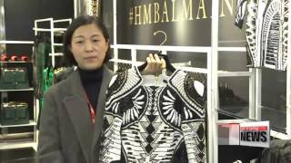 getlinkyoutube.com-Korean shoppers pull up camp as Balmain and H&M collaboration hits Seoul   일주일 노