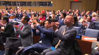 11月15日由人类和平委员会主办的和平音乐会在联合国总部隆重举行