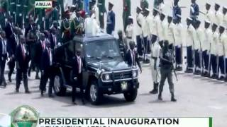 Inauguration Ceremony: Buhari inspects the soldiers on the parade ground