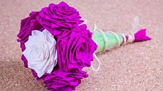 getlinkyoutube.com-Como hacer un Ramo de rosas / #SanValentinDePapel / Origami