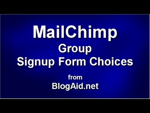 Target Your Email Lists with MailChimp Signup Form Selection Choices