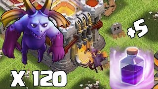 getlinkyoutube.com-Clash Of Clans - NEW MINION LVL 7 x 120 MASS ATTACK!!! (New Update December 2015)