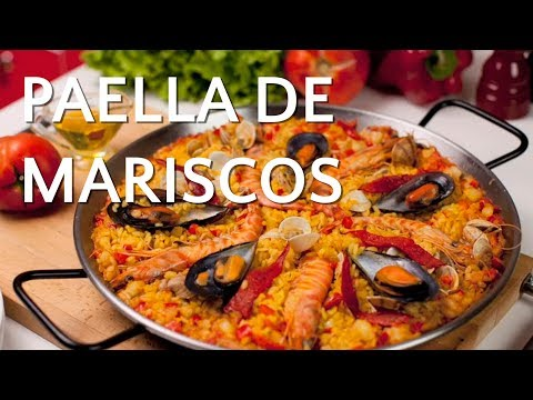 Paella de marisco - Receta de Arroz Brillante