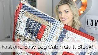 getlinkyoutube.com-Beginner Log Cabin Quilt Block Tutorial