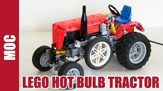 getlinkyoutube.com-Lego Hot Bulb Pneumatic Tractor