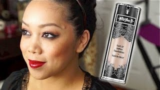 getlinkyoutube.com-NEW Kat Von D Lock-it Tattoo Foundation First Impression / Review - itsjudytime