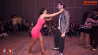 getlinkyoutube.com-Jonatha Casarin and Büşra Aracı Social Salsa | Music by Dj Orhun | EDF 2015