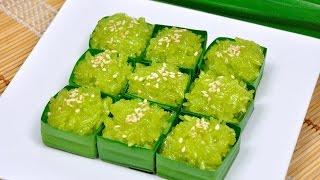 getlinkyoutube.com-Sweet Shiny Coconut Sticky Rice (Thai Dessert) - Khao Niew Kaew ข้าวเหนียวแก้ว