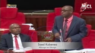 BUNGE LA BAJETI 2017/18: Kubenea amjibu Mwambalaswa