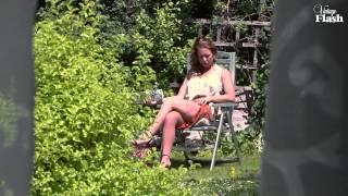 getlinkyoutube.com-Ashleigh Embers nylon stocking tease in an English country garden!