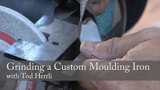 Grinding a Custom Moulding Iron