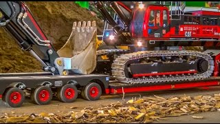getlinkyoutube.com-RC Truck Excavator transport! Stunning R/C ACTION!