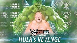 getlinkyoutube.com-WWE 2K16 Hulk vs Brock Lesnar | 30 Minutes Iron Man Full Match PS4 Gameplay