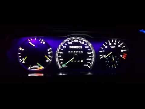 """Оптитронная подсветка комбинации приборов для """"Mercedes Benz W124""""   от igzelledtuning"""