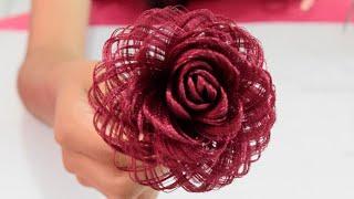 getlinkyoutube.com-Como hacer una rosa de tela // Fabric Flowers Roses // Dia del amor y la amistad - Loveluzlop