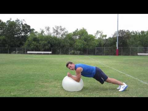 Coach Kozak's Creative Abs Workout - HASfit Exercise Ball Exercises - Stability Ball Workout