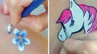 getlinkyoutube.com-Les multiples utilisations des pinceaux ronds - Comment Maquiller Les Enfants 3ème PARTIE