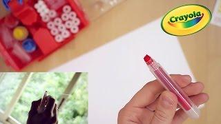 getlinkyoutube.com-Laboratorio pennarelli Crayola punte pazzerelle e colori su vetro!