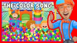 getlinkyoutube.com-The Color Song by Blippi   Learn Colors for Toddlers
