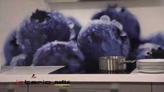Szklana wysłona ścienna z grafiką - meble kuchenne Nolte