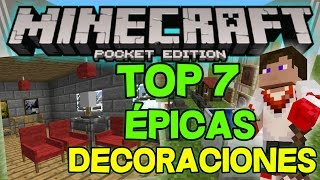 getlinkyoutube.com-LAS 7 DECORACIONES MAS EPICAS PARA MINECRAFT PE 1.0 (Pocket Edition)