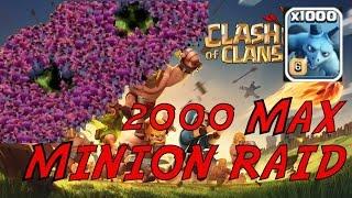 getlinkyoutube.com-Clash of Clans: 2000 MAX MINION RAID! EPIC 3 STAR!