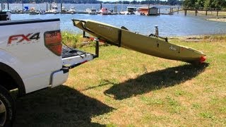 getlinkyoutube.com-Loading & unloading the Hobie Pro-Angler. Hitch load extender.