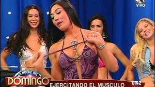 getlinkyoutube.com-Belen Lavallen La Noche Del Domingo Shorts Top Violeta