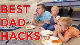 ULTIMATE DAD HACKS WHILE MOM IS AWAY!! width=
