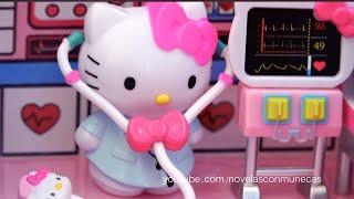 Avión de juguete y ambulancia Hello Kitty para niñas - Kitty va a viajar pero Bear se accidenta