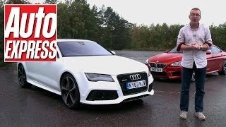 getlinkyoutube.com-BMW M6 Gran Coupe vs Audi RS7 - Auto Express