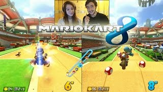 getlinkyoutube.com-Mario Kart 8 en Couple ! DavidLafarge VS MissJirachi ! RAGE & FAIL en Facecam ! DLC !