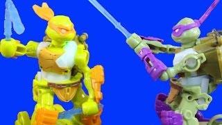 getlinkyoutube.com-Teenage Mutant Ninja Turtles TMNT Battroborg Electronic Battle Game With Donnie And Mikey
