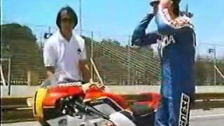 getlinkyoutube.com-1985 F スペンサー ホンダNSR500 vs ホンダVF750セイバー vs ニッサンFairlady Z 300ZX